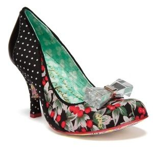Irregular Choice Lucite Lovely Black Pin-Up Heel